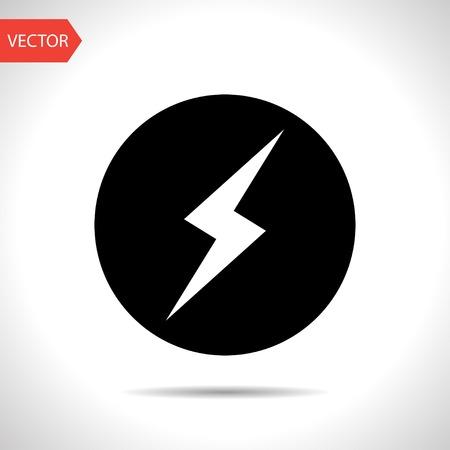 rayo electrico: icono de un rayo