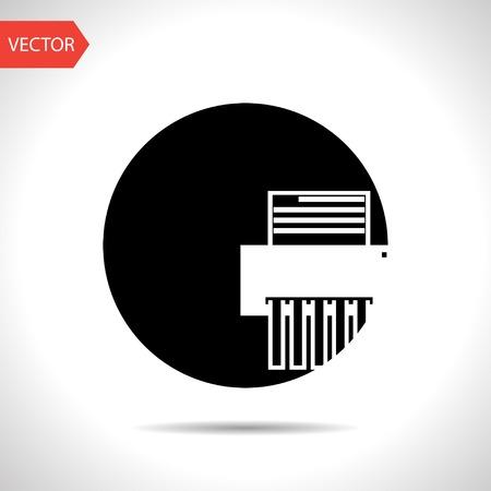 shredder: icon of shredder Illustration