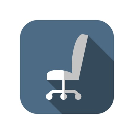 sit: icon of office chair Illustration