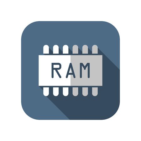 icon of memory chip Illustration