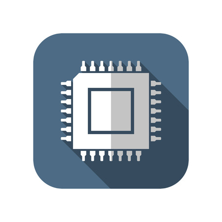 electrical part: icon of cpu microchip