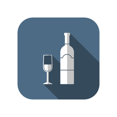 icon of wine glass with bottle