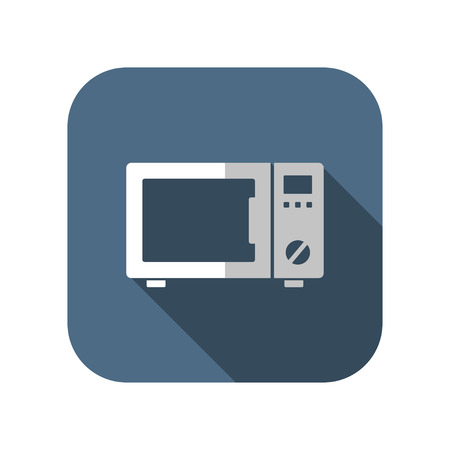 microwave oven: icon of microwave oven