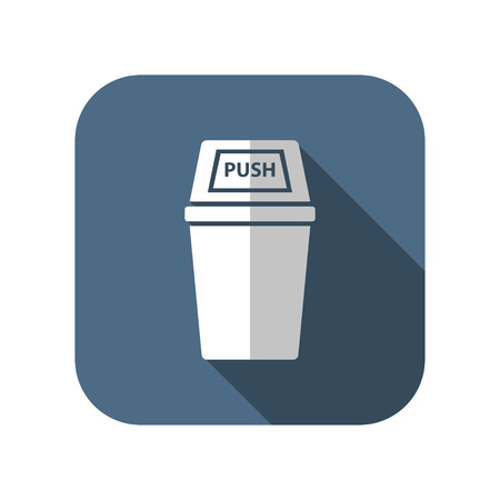 trash can: icon of trash can Illustration