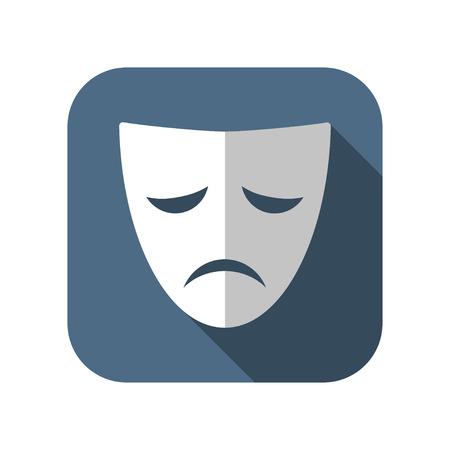 teatro: icono de máscara de teatro Vectores