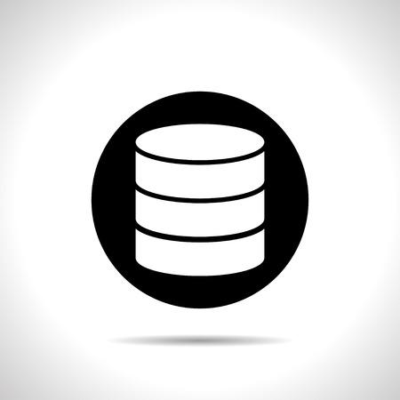 db: icon of database Illustration
