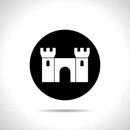 places of interest: icon of castle Illustration