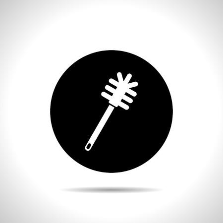 toilet brush: toilet brush icon Illustration