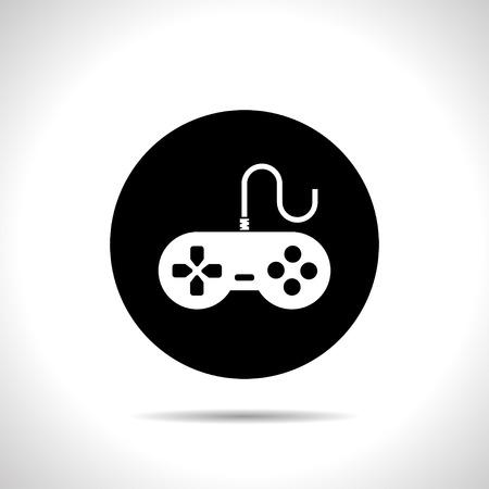 the gamepad: Gamepad vector icon
