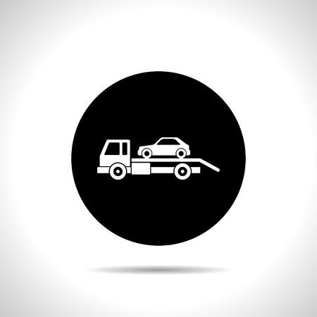 evacuatie: Tow auto evacuatie icoon