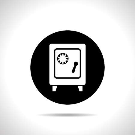 financial stability: Safe icon Illustration