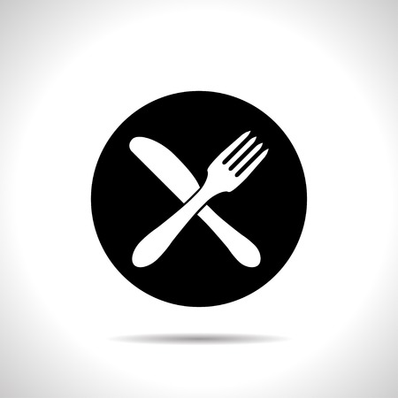 dine: kitchen icon of crossed fork and knife