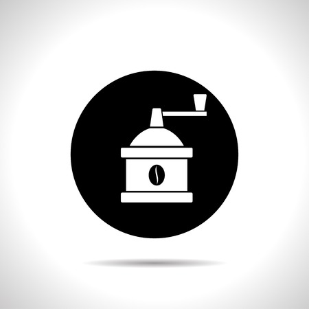 coffee mill: kitchen icon of coffee mill Illustration