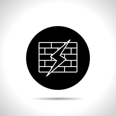 firewall: Ikone der gebrochenen firewall