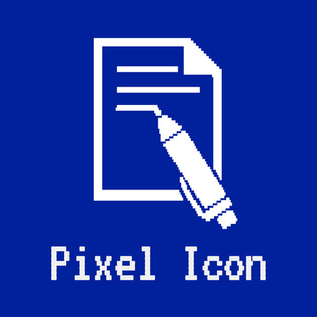 dos: pixel vector icon of writing pen