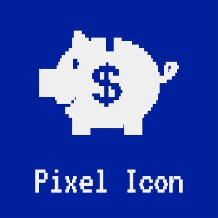 piggy: Vector piggy bank icon Illustration