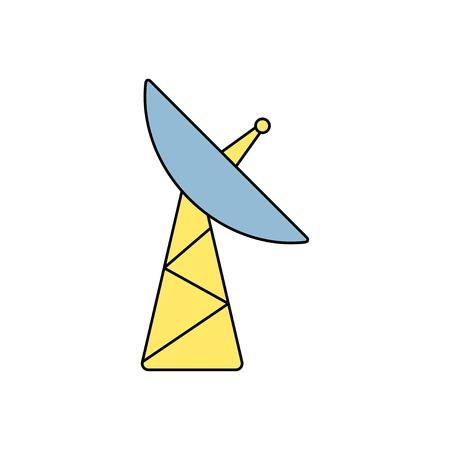 microwave antenna: icono de la antena de plato Vectores