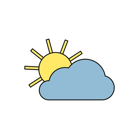 wheather: icon of sun and cloud Illustration