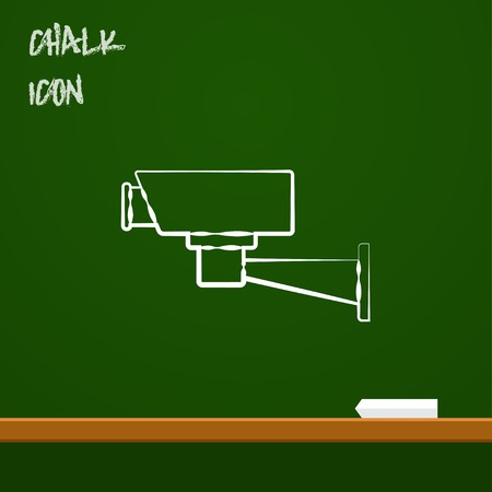 monitored area: icon of camera Illustration