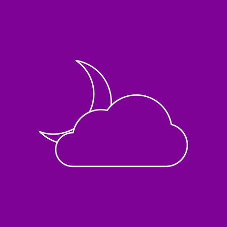 wheather forecast: icon of cloudy night