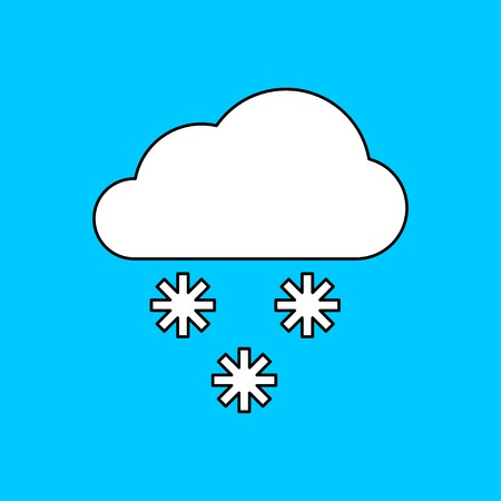 forecasting: icon of snow Illustration