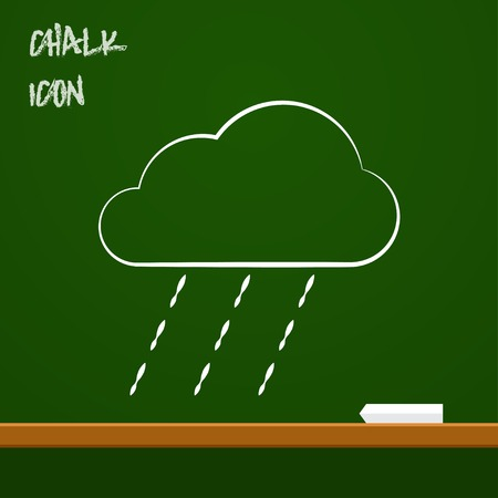 heavy rain: icon of heavy rain Illustration