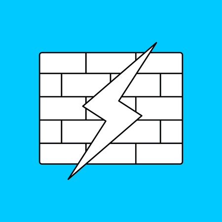 zap: icon of firewall Illustration