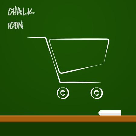 shopping cart icon: icon of shopping cart