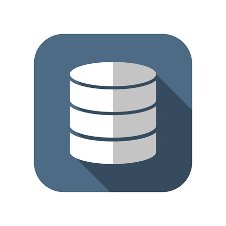 compartment: icon of database Illustration
