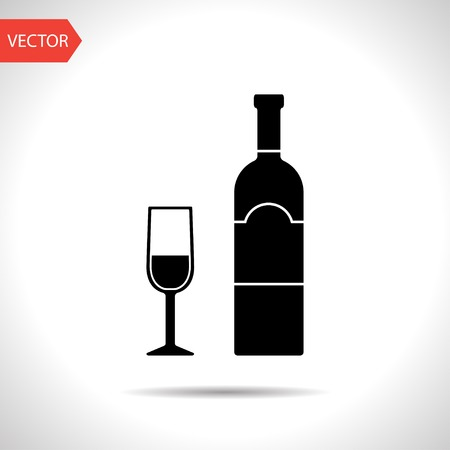 cabernet: icon of wine glass with bottle