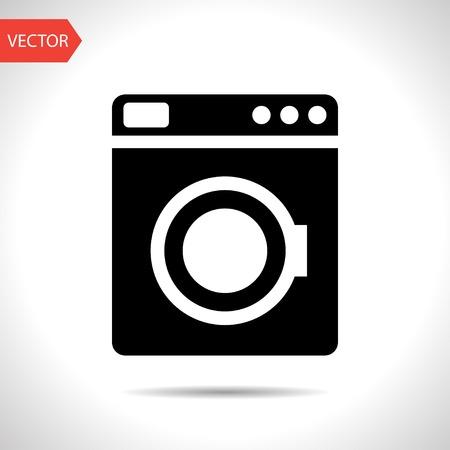 washing machine: icon of washing machine Illustration