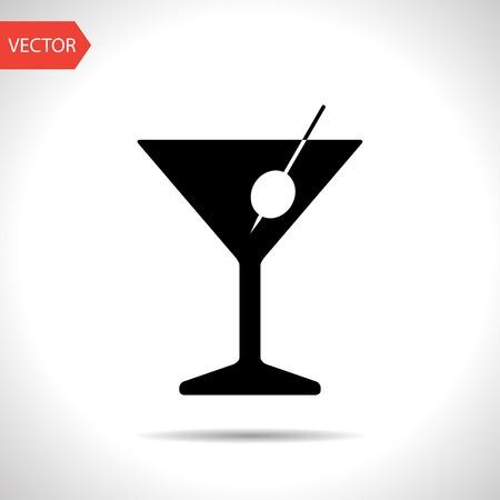 vidrio: icono de vaso de martini