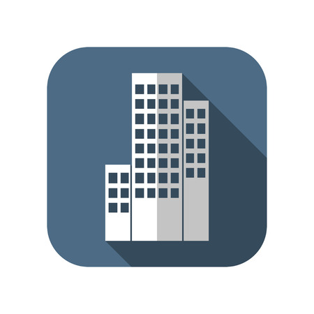 construction icons: buildings icon Illustration