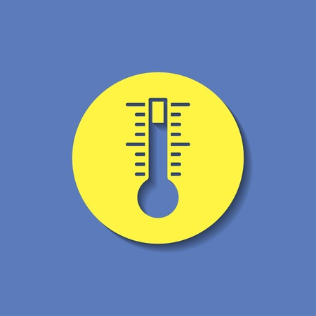 thermostat: icon of thermometer