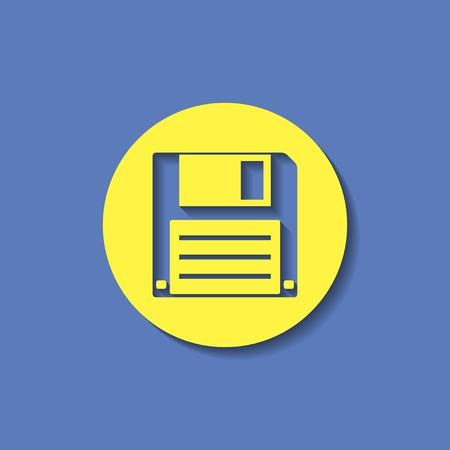 diskette: icon of hd diskette