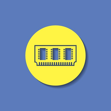 main part: icon of memory chip Illustration