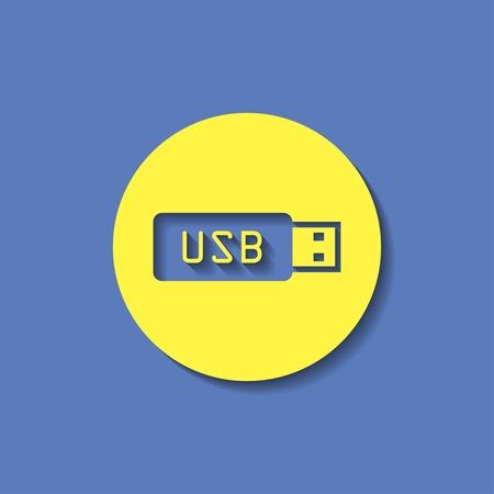 usb stick: icon of usb stick Illustration