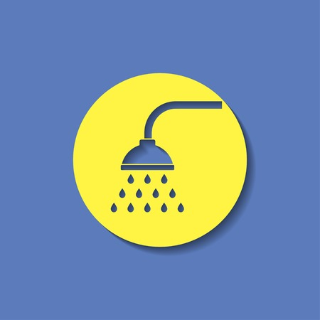 showering: icon of shower