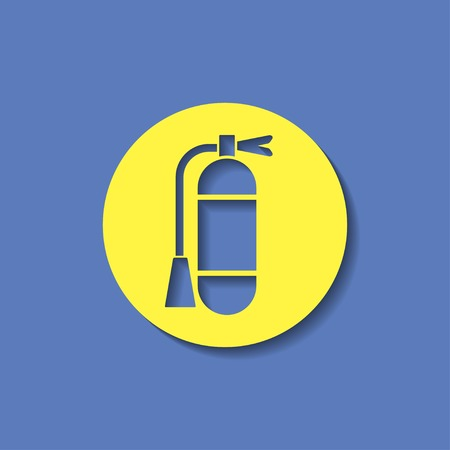 foam safe: icon of fire extinguisher