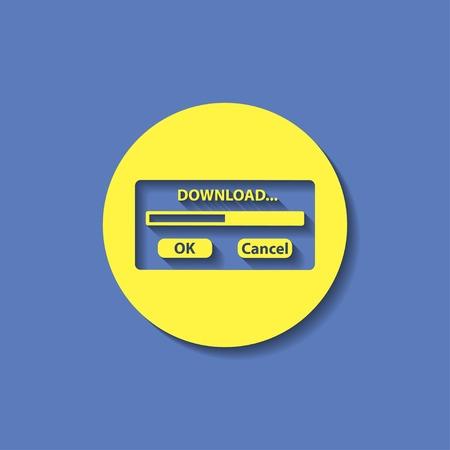 progressbar: download window progressbar Illustration