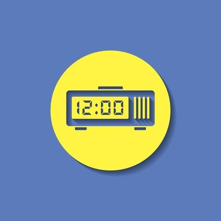 pm: alarm clock icon