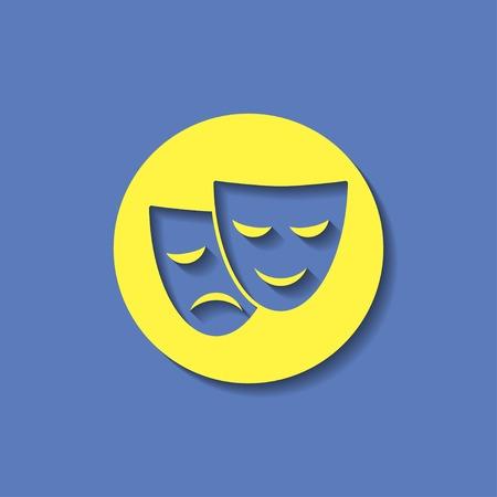 theatre masks: theatre masks icon