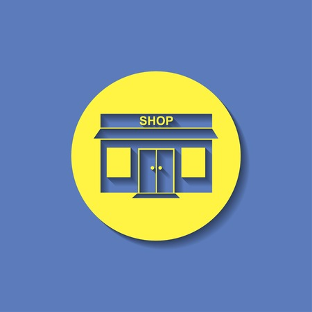 outdoor goods: shop icon Illustration