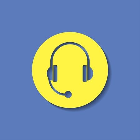 headset: headset icon Illustration