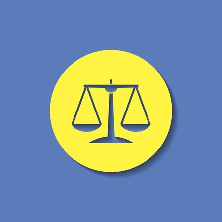 fairness: Justice scale icon Illustration