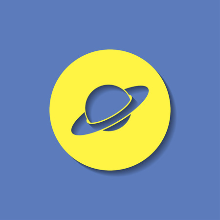 saturn planet: saturn planet silhouette icon