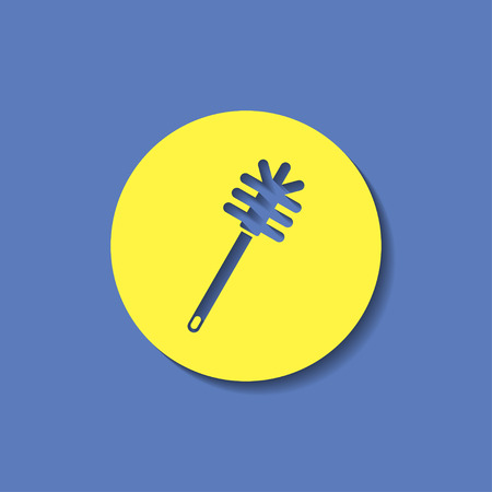cleanup: toilet brush icon Illustration