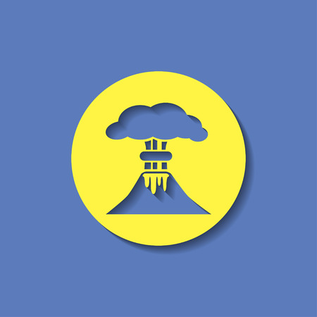powerful volcano: volcano mountain erupting icon