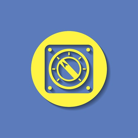 turn dial: icon of gauge