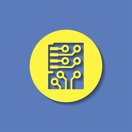 information icon: Web icon of microchip, vector design